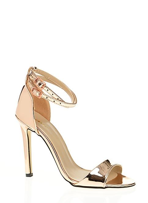 3be49b7ee3bdb Koton Kadın Bilekten Bağlamalı İnce Topuklu Ayakkabı Rosegold İndirimli  Fiyat   Morhipo   19152155